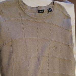 MENS IZOD Sweater Size Large Tan Color 21x27